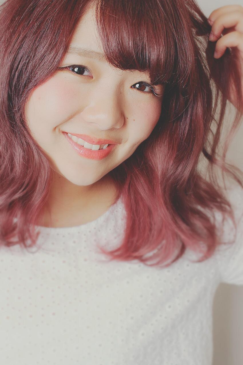 ピンクアッシュの夏カラー!!